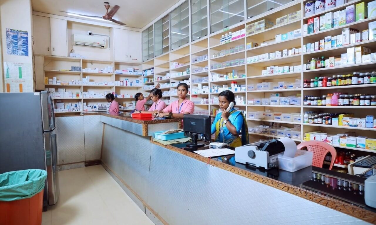 Pharmacy at Lister Hospitals in Marthandam